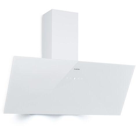 Klarstein Laurel 90 campana extractora 90 cm aire de escape: 350 m³/h LED touch blanco