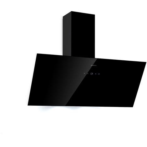 Klarstein Laurel 90 campana extractora 90 cm evacuación al exterior: 350 m³/h LED panel táctil negra