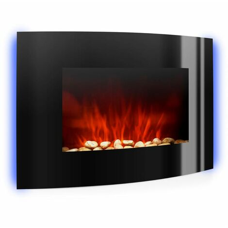 Klarstein Lausanne Electric Fireplace 2000W LED Flame Effect Remote Control