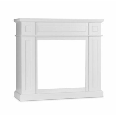 Klarstein Lausanne Frame Corps de cheminée MDF design classique blanc