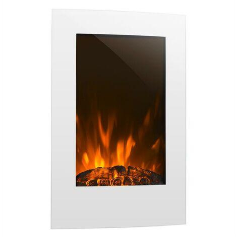 Klarstein Lausanne vertical cheminée électrique 2000 W minuterie hebdomadaire blanc