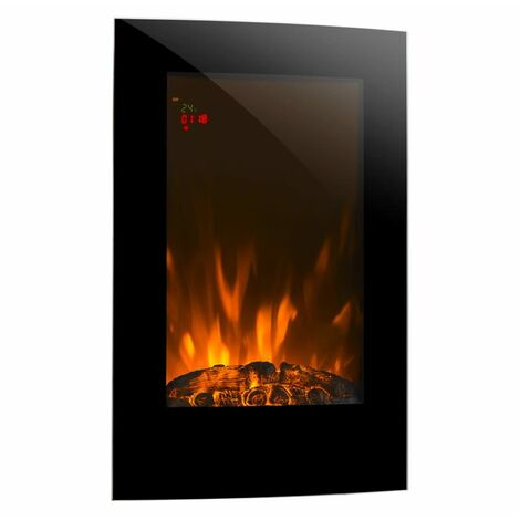 Klarstein Lausanne Vertical Electric Fireplace 2000 Watts Remote Control
