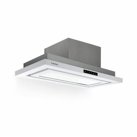 Klarstein Lumiera Cooker Extractor Hood LED 70 cm EEK A 750 m3 / h 3 Steps White