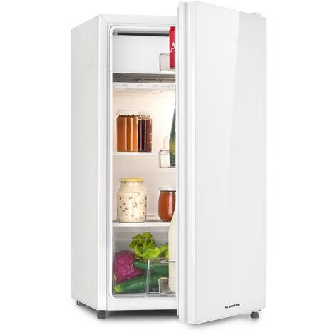 Klarstein Luminance Frost Frigorífico 91 l A+ Compartimento para verduras 2 estantes de cristal Blanco