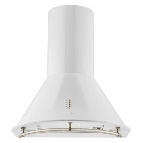 Klarstein Lumio Neo Campana extractora retro, 60 cm, 610 m³/h, etiqueta energética A, en acero inoxidable y color blanco