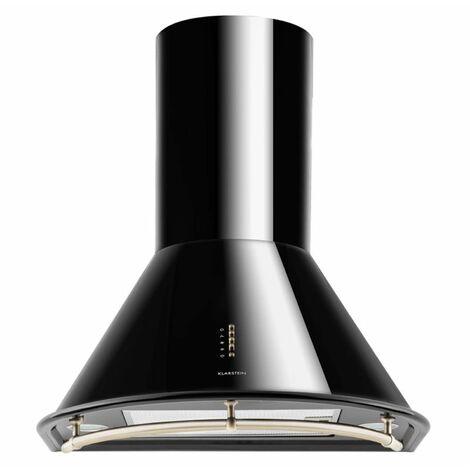 Klarstein Lumio Neo hotte aspirante rétro en inox 60 cm 610 m³/h classe A - noir