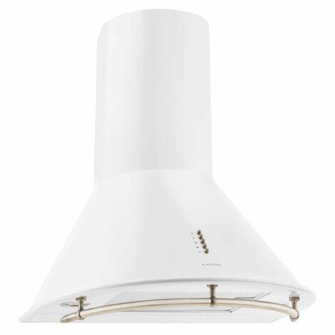 Klarstein Lumio Primo campana extractora campana pared filtro antigrasa blanco