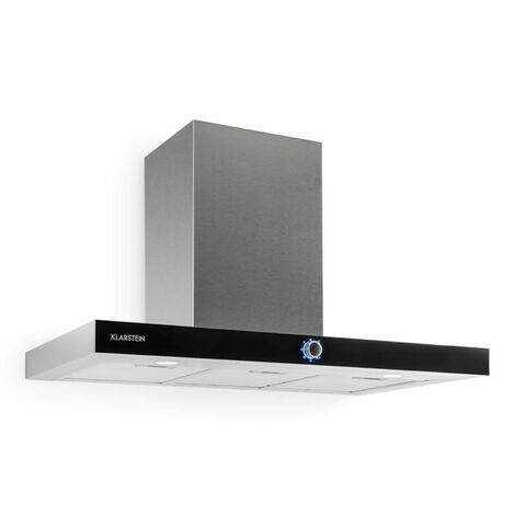 Klarstein Mathea Cooker Hood Stainless Steel 90 cm Wall Mounted 541 m³ / h Glass LED