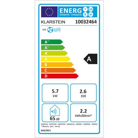Klarstein Max Breeze mobile Klimaanlage 2.200 W 19.500 BTU/h (5,7 kW) A