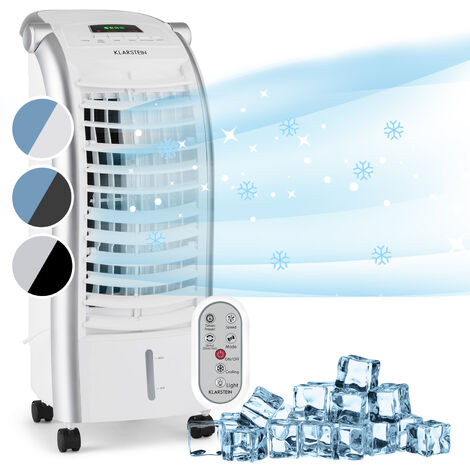 Klarstein Maxfresh Ventilador Climatizador evaporativo Humidificador 444m³/h 6l Mando a distancia Blanco