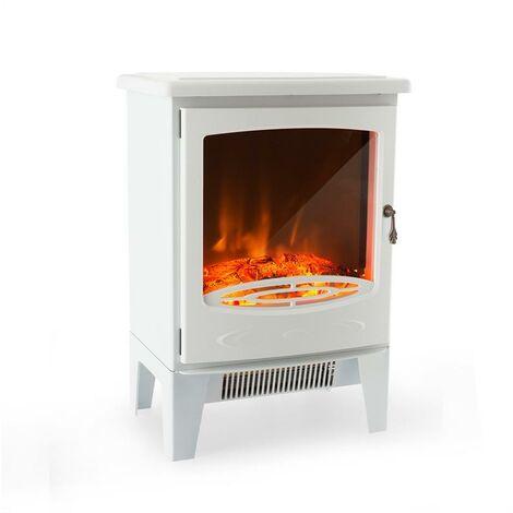 Klarstein Meran Chimenea eléctrica 950/1850W InstaFire Atenuable Blanco