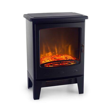 Klarstein Meran Electric Fireplace 950 / 1850W InstaFire Dimmable Black