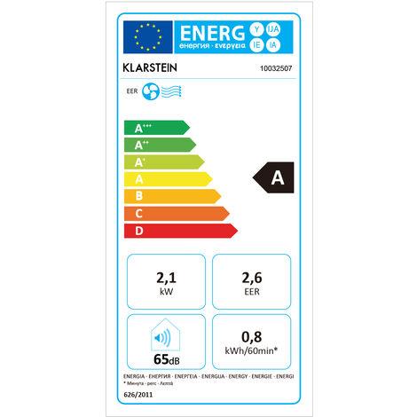 Klarstein Metrobreeze 7 Barcelona Climatiseur mobile 7000 BTU/h 800W - blanc