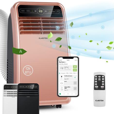 Klarstein Metrobreeze New York Smart 12k climatiseur mobile 12000 BTU/3,5 kW EEC A télécommande rose gold