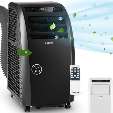Klarstein Metrobreeze Rom Aire acondicionado portátil de 10 000 BTU/3,0 kW EEC A+ Negro