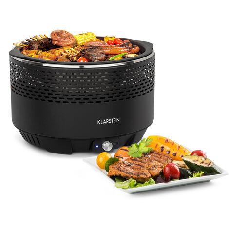 Klarstein Micro-Q 3131 Barbecue à charbon rond grille Ø 31cm noir