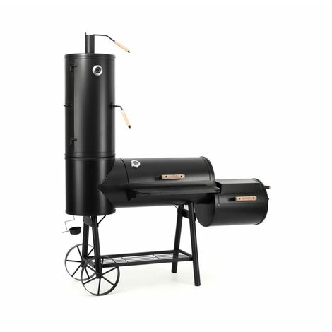 Klarstein Monstertruck BBQ Smoker Grill Steel Black