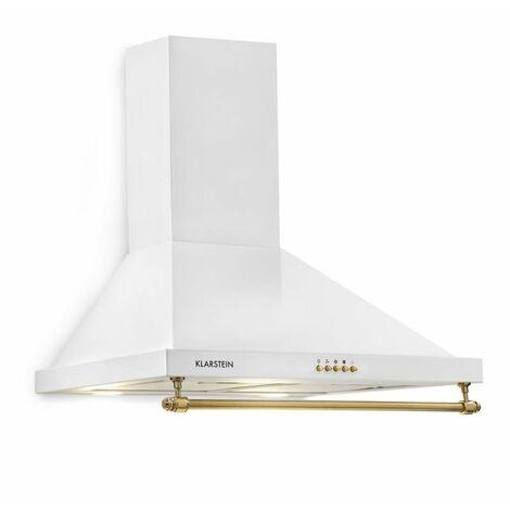Klarstein Montblanc Cooker Hood 610m³/h 165W2x1.5W LED Rail White