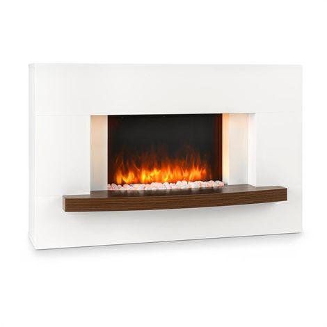 Klarstein Montreux Electric Fireplace 1000 / 2000W InstaFire Remote Control White