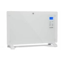 Klarstein Norderney Chauffage à convection thermostat minuterie 2000W LCD blanc