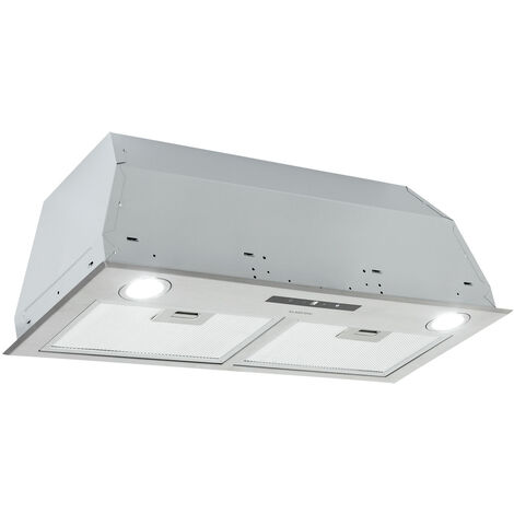 Klarstein Paolo Cooker Extractor Hood Built-in 72cm 600 m³ / h Stainless Steel Silver