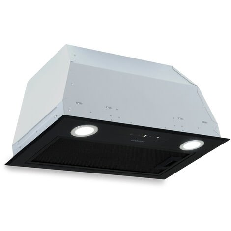 Klarstein Paolo Cooker Extractor Hood Installation 52.5cm Exhaust Air: 600 m³ / h LED Touch Black