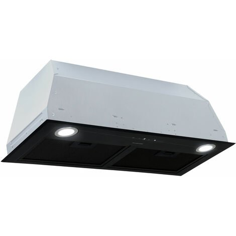 Klarstein Paolo Cooker Extractor Hood Installation 72cm Exhaust Air: 600 m³ / h LED Touch Black