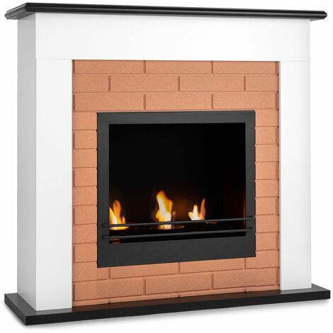 Klarstein Phantasma Brickline cheminée à l'éthanol 3,4 kW MDF aspect brique