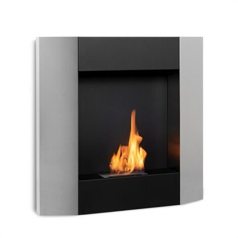 Klarstein Phantasma Futur cheminée à l'éthanol sans fumée brûleur 2h inox