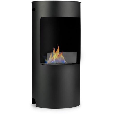 klarstein Phantasma Niro cheminée à l'éthanol, brûleur de sécurité, aide à l'extinction
