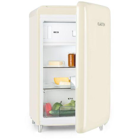 Klarstein PopArt Cream Nevera retro A++ 108 l / 13 l Congelador crema