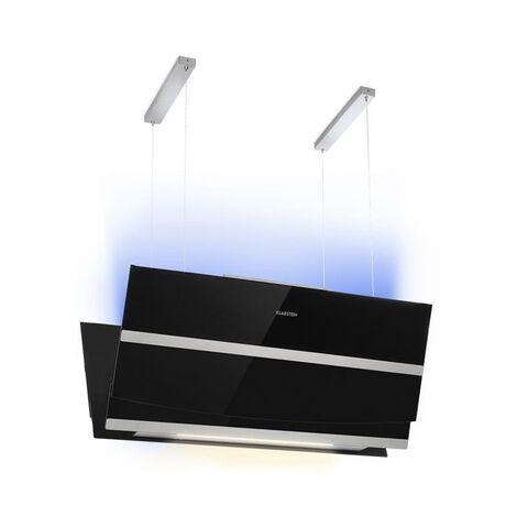 Klarstein Prism Campana extractora 720 m³/h Pantalla LCD Temporizador Colores RVA Negro