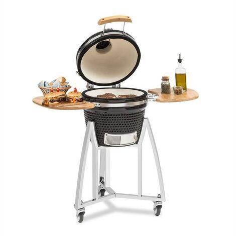 Klarstein Queensize Barbecue Kamado grille cuisson inox - noir