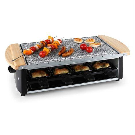 Klarstein Raclette Grill Natural Stone Plate Skewers 8 Person 1200W