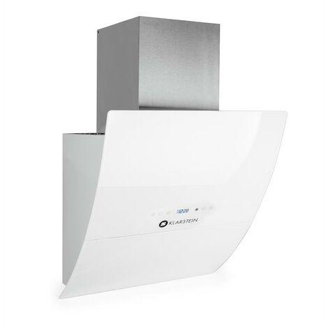 Klarstein RGL60WH ergonomic extractor fan 60cm head free hood white safety glass Energy Class A