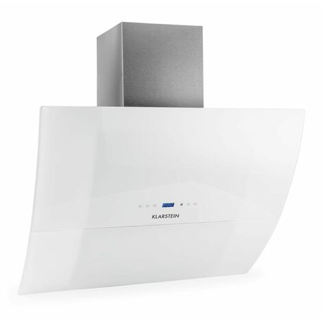 Klarstein RGL90WH campana extractora campana de pared cristal 90 cm blanco