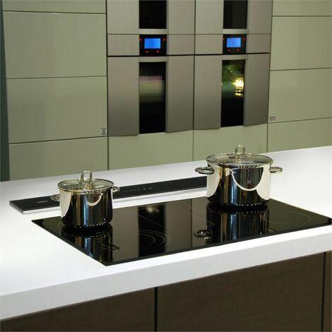 Klarstein Royal Flush Downdraft Extractor Cocina Campana Extractora 540 m³/h 90 cm