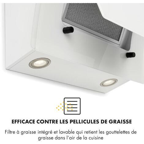 Klarstein Sabia 60 Hotte aspirante 60cm 600m³/h LED 3 vitesses blanche