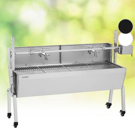 Klarstein Sauenland Pro Barbecue broche pour cochon de lait 15W 4 roulettes inox