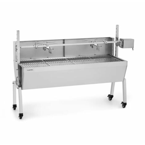 Klarstein Sauenland Pro Suckling Pig Spit 15W 4 Wheels Stainless Steel