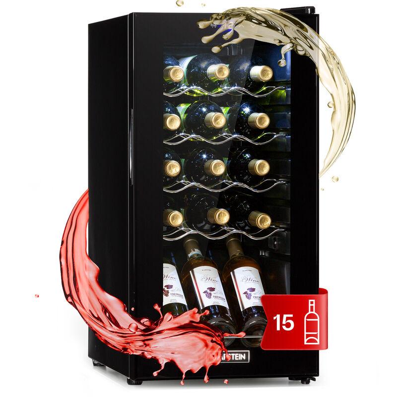 Klarstein - Shiraz 15 Slim Uno Wine Refrigerator 44l Touch 135W 5-18