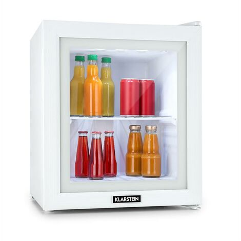 Klarstein Showroom Mini-réfrigérateur bar classe A++ 36L porte en verre - blanc