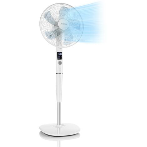 "Klarstein Silent Storm Standventilator 16"" (41cm) 5-Blatt 32 dB min. 25,8W weiß"