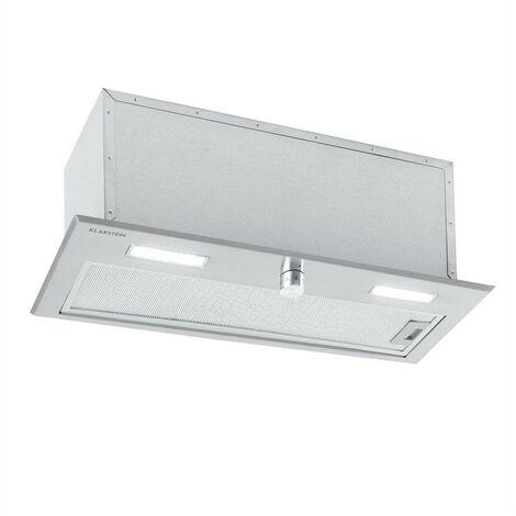 Klarstein Simplica Campana Extractora empotrada 70cm salida de aire: 400 m³/h LED acero inoxidable