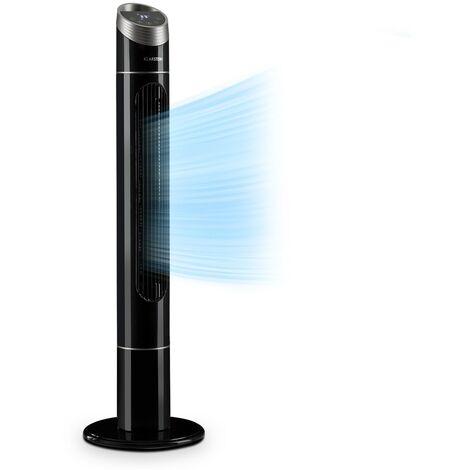 Klarstein Sky High Ventilateur colonne 40W oscillation 75° 3 vitesses - Noir