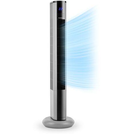 Klarstein Skyscraper 3G ventilateur tour 48 W débit 1633 m³/h panneau tactile argent