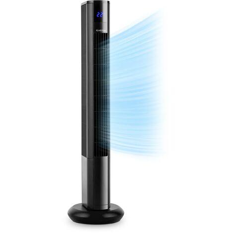 Klarstein Skyscraper 3G ventilateur tour 48 W débit 1633 m³/h panneau tactile noir