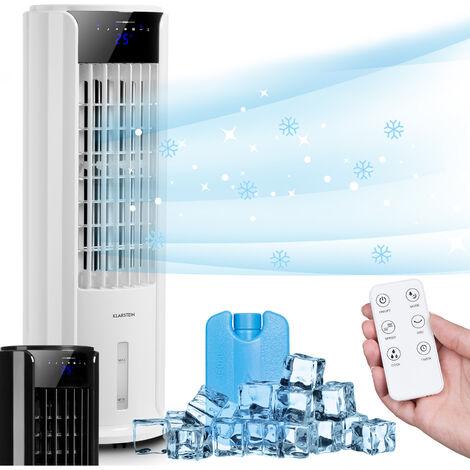 Klarstein Skyscraper Horizon 3-en-1 rafraîchisseur d'air ventilateur humificateur 60 W 486 m³/h réservoir 3,5 l blanc