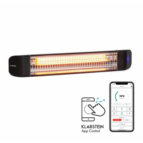Klarstein Smartwave Infrarot-Heizstrahler 2400W WiFi Appsteuerung schwarz