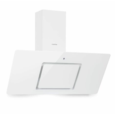 Klarstein Sofia 90 Campana extractora de 300 m³/h Panel de control táctil Parte frontal de vidrio Blanca